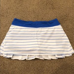 White and Royal Blue Lulu Lemon Skirt (Size 6 Reg)